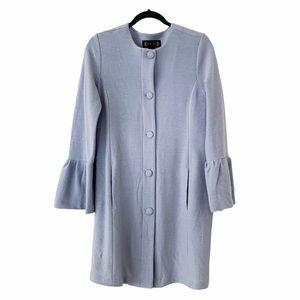 Nanette Lepore Wool Bell Sleeve Coat Topper